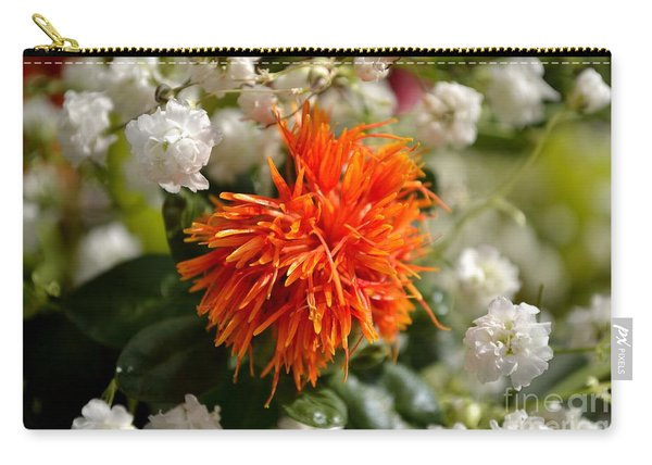 Carry-all Pouch featuring the photograph Safflower Amongst The Gypsophilia by Scott Lyons