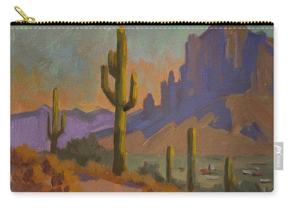 Saguaro Cactus And Apache Junction Carry-all Pouch