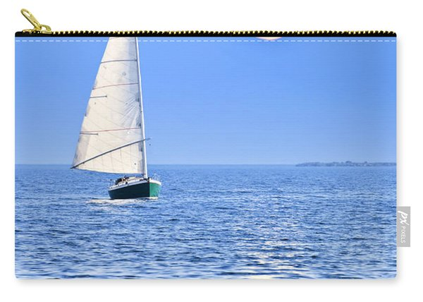 Sailboat At Full Moon Carry-all Pouch