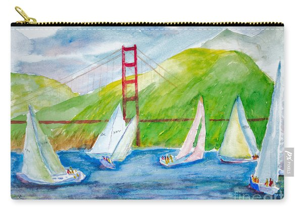 Sailboat Race At The Golden Gate Carry-all Pouch