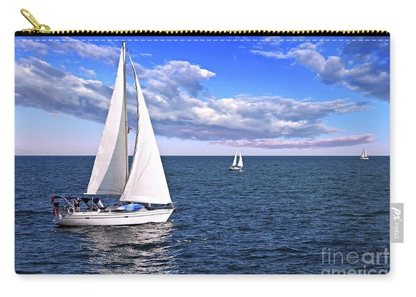 Sailboats At Sea Carry-all Pouch