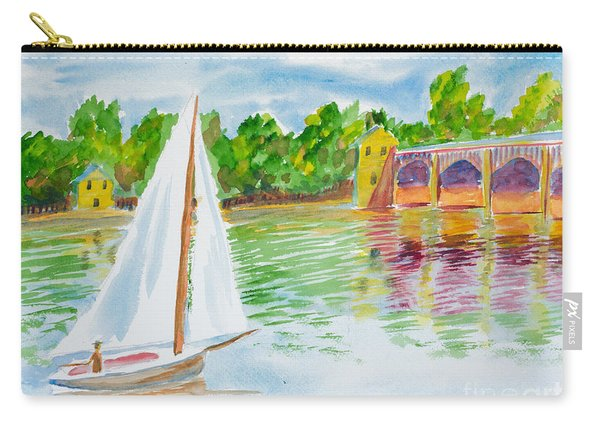 Sailing By The Bridge Carry-all Pouch