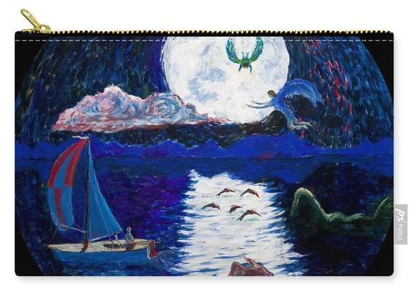 Sailing In The Moonlight Carry-all Pouch