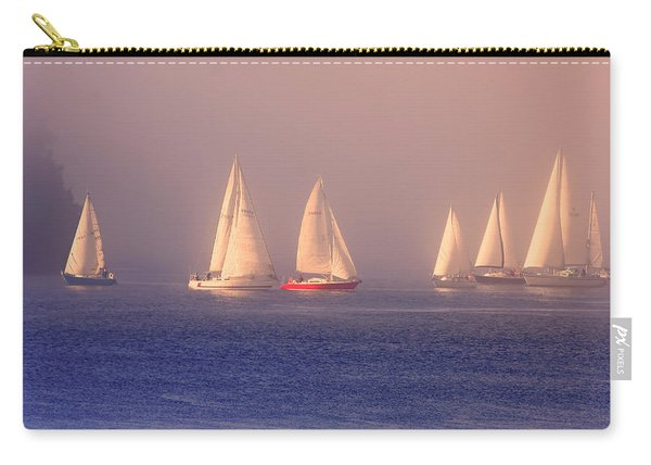 Sailing On A Misty Ocean Carry-all Pouch