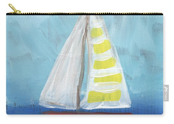 Sailing- Sailboat Painting Carry-all Pouch