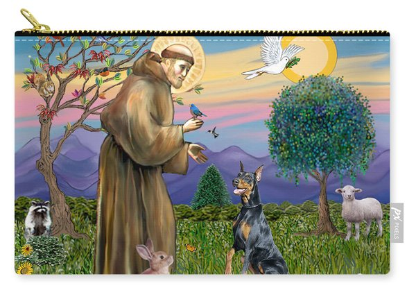 Saint Francis And Doberman Pinscher Carry-all Pouch