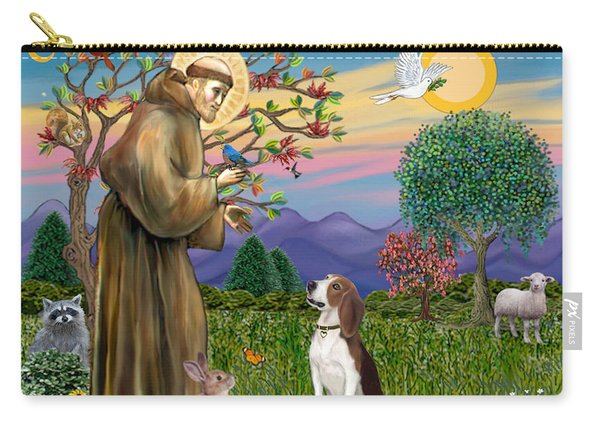Saint Francis Blesses A Beagle Carry-all Pouch