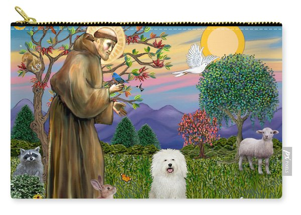 Saint Francis Blesses A Bolognese Carry-all Pouch