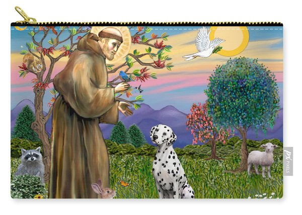 Saint Francis Blesses A Dalmatian Carry-all Pouch