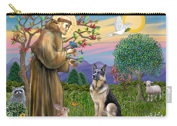 Saint Francis Blesses A German Shepherd Carry-all Pouch