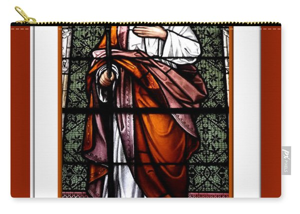 Saint Joseph  Stained Glass Window Carry-all Pouch