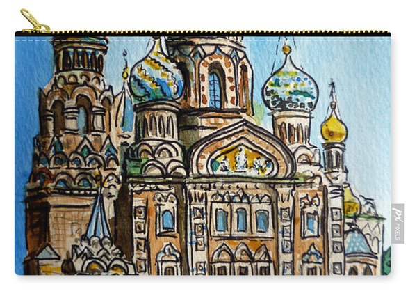 Saint Petersburg Russia The Church Of Our Savior On The Spilled Blood Carry-all Pouch