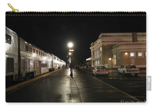 Salem Amtrak Depot At Night Carry-all Pouch