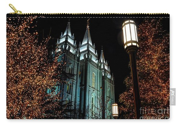 Salt Lake City Mormon Temple Christmas Lights Carry-all Pouch