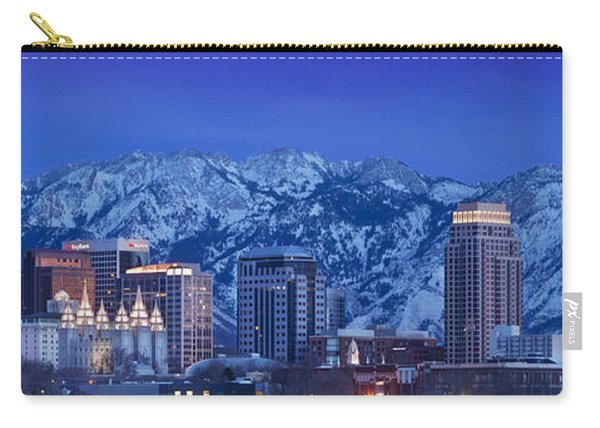 Carry-all Pouch featuring the photograph Salt Lake City Skyline by Brian Jannsen