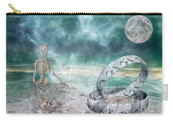 Sam Meditates With Time One Of Two Carry-all Pouch