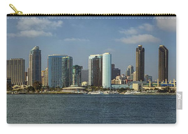 San Diego Skyline Daytime Panoramic Carry-all Pouch