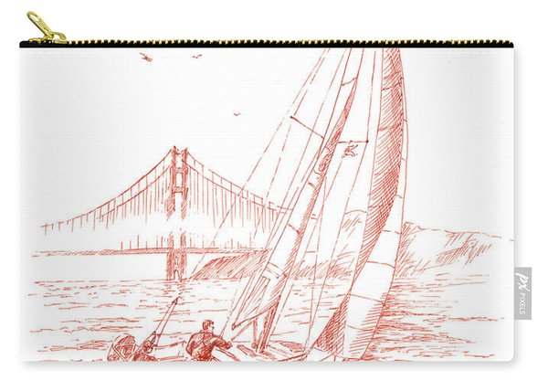 San Francisco Bay Sailing To Golden Gate Bridge Carry-all Pouch