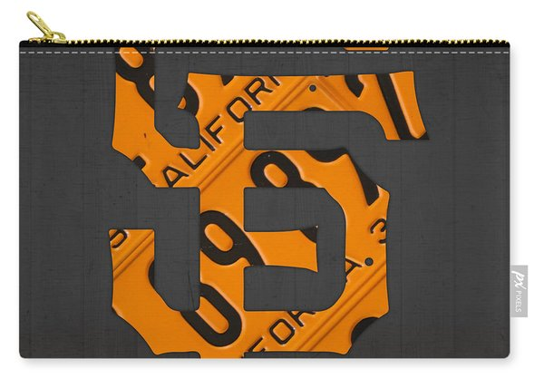 San Francisco Giants Baseball Vintage Logo License Plate Art Carry-all Pouch