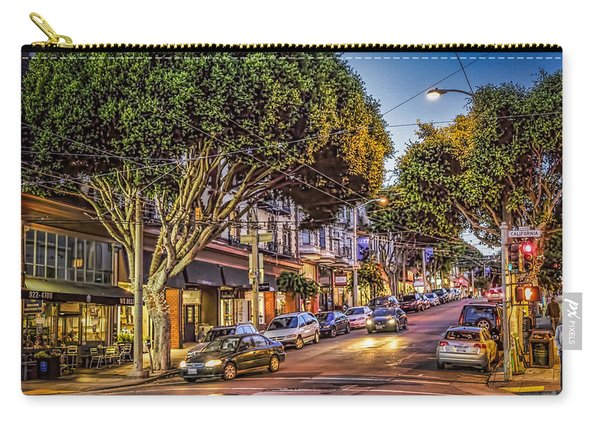 Carry-all Pouch featuring the photograph Hdr Effect - San Francisco Street by Susan Leonard