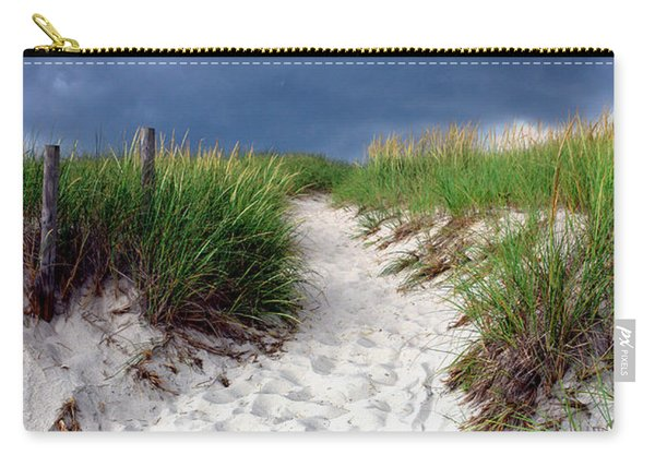 Sand Dune Under Storm Carry-all Pouch