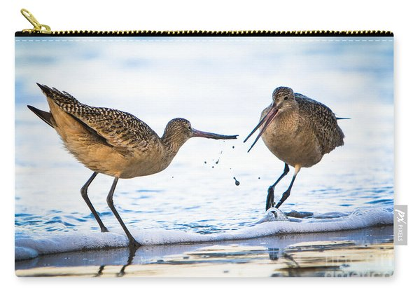 Sanderlings Playing At The Beach Carry-all Pouch