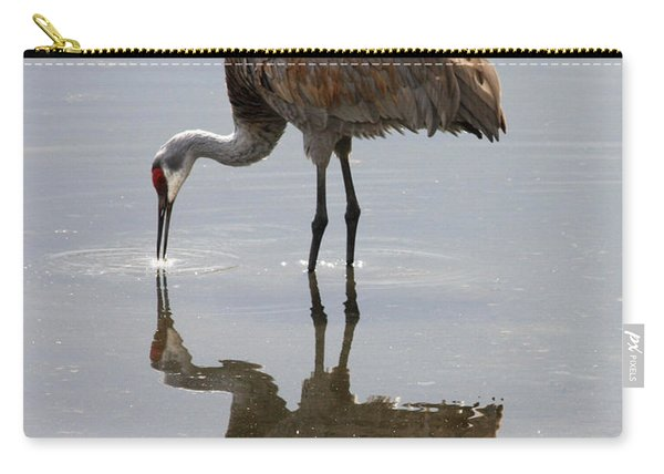 Sandhill Crane On Sparkling Pond Carry-all Pouch