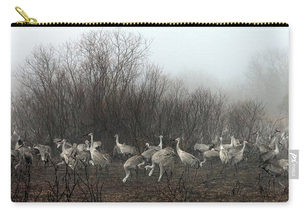 Sandhill Cranes In The Fog Carry-all Pouch
