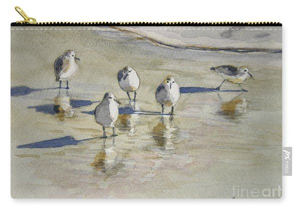 Sandpipers 2 Watercolor 5-13-12 Julianne Felton Carry-all Pouch