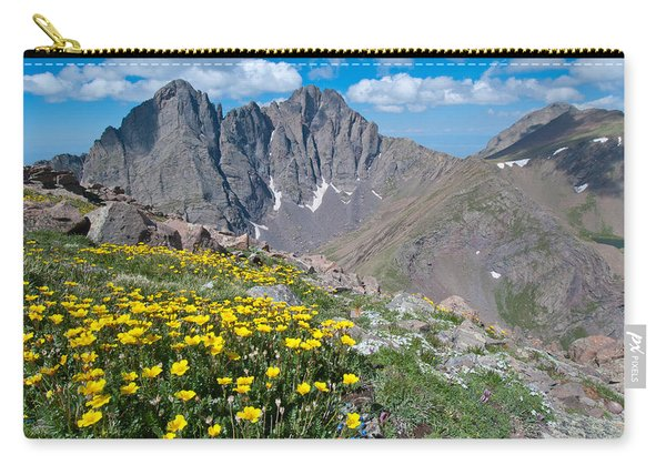 Sangre De Cristos Crestone Peak And Wildflowers Carry-all Pouch