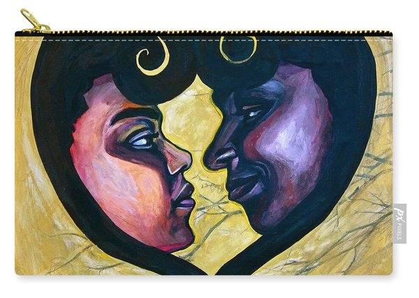 Carry-all Pouch featuring the painting Sankofa Love by Gabrielle Wilson-Sealy