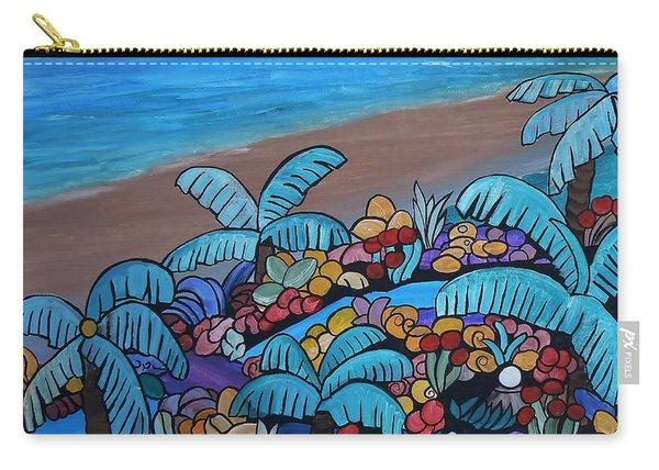Carry-all Pouch featuring the painting Santa Barbara Beach by Barbara St Jean