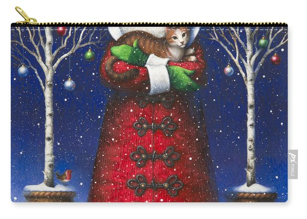 Santa's Cat Carry-all Pouch
