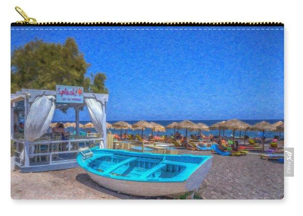 Santorini Beach Boat Grk4151 Carry-all Pouch