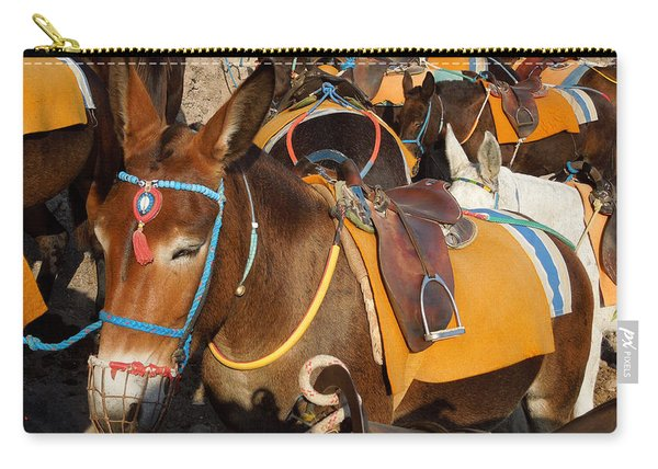 Santorini Donkeys Ready For Work Carry-all Pouch