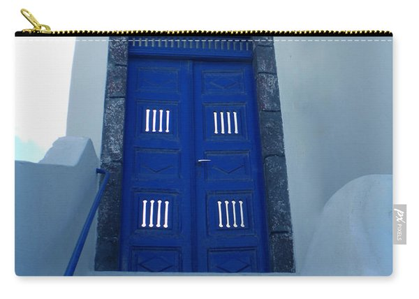 Carry-all Pouch featuring the photograph Santorini Door  To Heaven  by Colette V Hera  Guggenheim