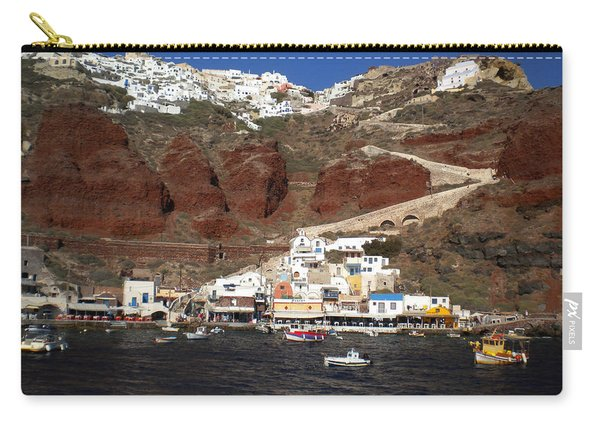 Santorini  Island  View To Oia Greece Carry-all Pouch