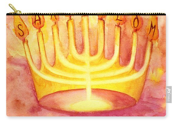 Carry-all Pouch featuring the painting Sar Shalom by Nancy Cupp