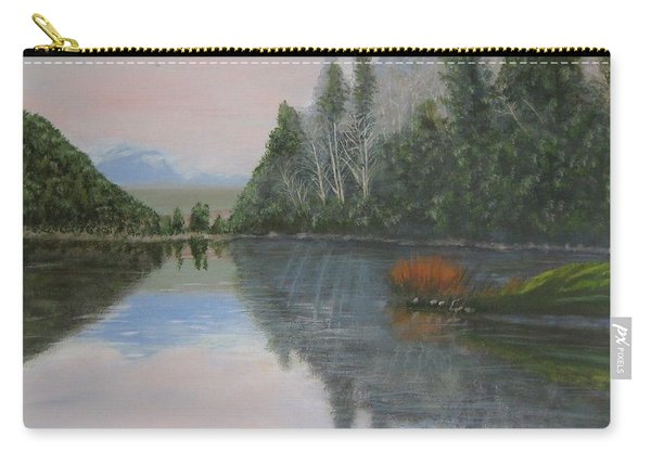 Sarita Lake On Vancouver Island Carry-all Pouch