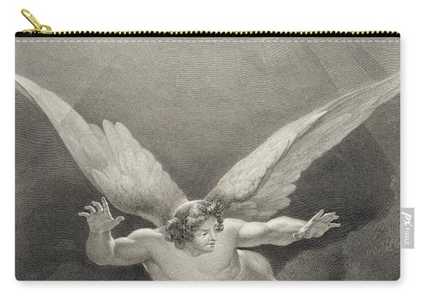 Satan Leaps Over The Walls Of Heaven Carry-all Pouch