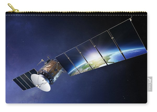 Satellite Communications With Earth Carry-all Pouch