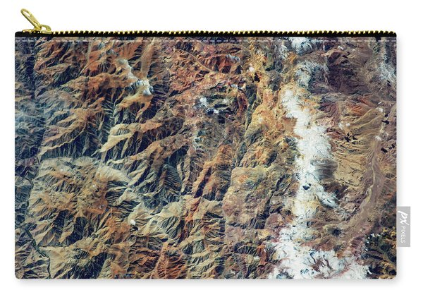 Satellite View Of Andes Mountain Range Carry-all Pouch
