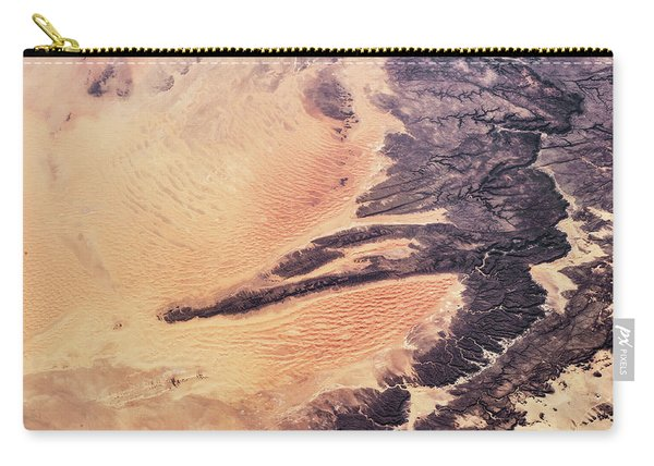 Satellite View Of Arid Landscape Carry-all Pouch