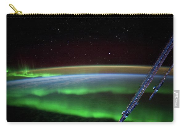 Satellite View Of Aurora Borealis Carry-all Pouch