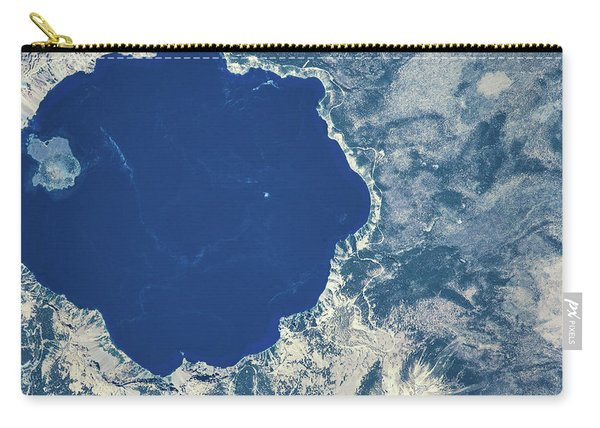 Satellite View Of Crater Lake, Oregon Carry-all Pouch