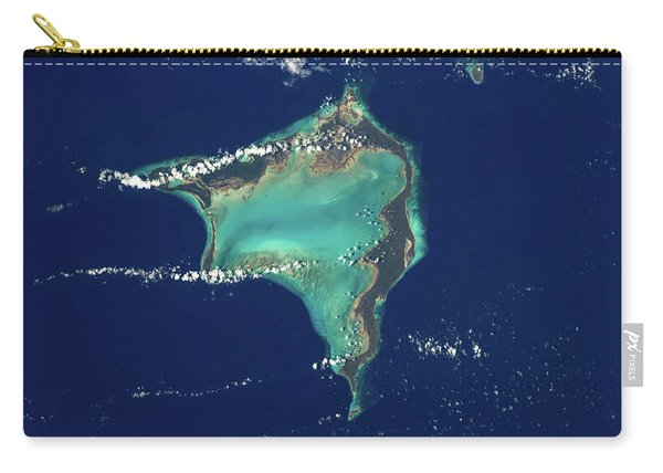 Satellite View Of Crooked Island Carry-all Pouch