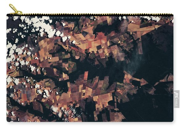 Satellite View Of Fields, Mato Grosso Carry-all Pouch