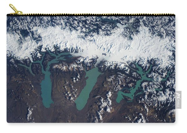 Satellite View Of Glaciers Carry-all Pouch