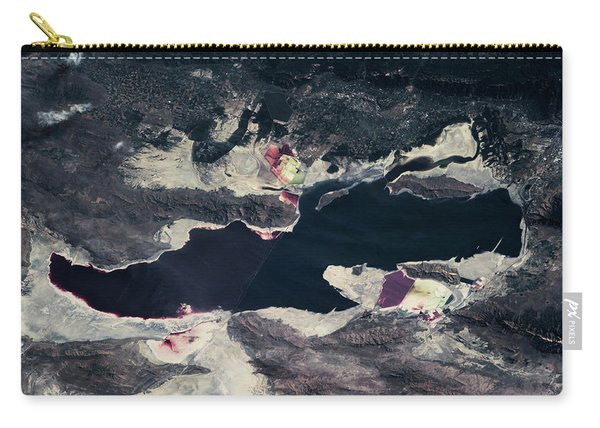 Satellite View Of Great Salt Lake Carry-all Pouch