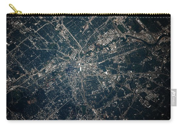 Satellite View Of Houston, Texas, Usa Carry-all Pouch